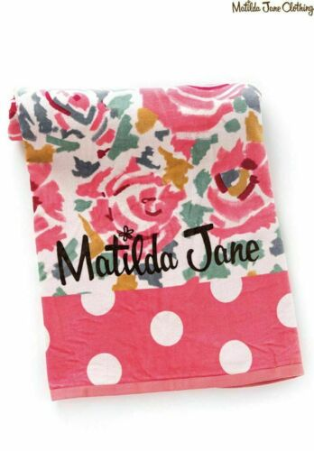 Matilda Jane Happy and Free Sunshine Towel One Size Pink New in Online Bag