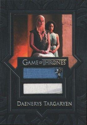 2018 Game of Thrones Season 7 VR6 Daenerys Targaryen's Dual Relic Card SCARCE