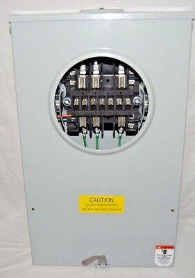 Brooks Meter Socket 602u3010c13-086 30a 600v 3r Enclosure 3ph 4 Wire New Surplus