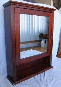 Mirrored Wooden Medicine Cabinet