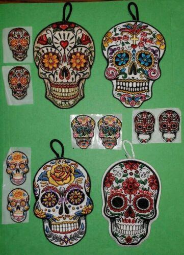 OA Gila Lodge 378 NOAC 2018 Sugar Skull Set - 4 Large and 8 mini patches