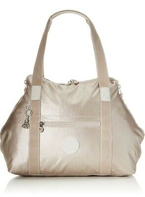 NEW Kipling Art M metallic Glow large Gym back Tote travel bag Rrp£103