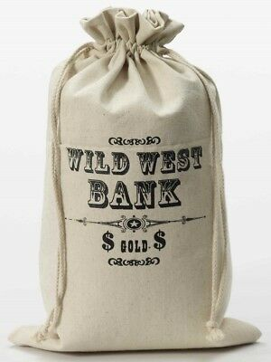 Money Bag Wild West Bank Robber Prop Fancy Dress Halloween Costume Accessory](Money Bag Halloween Costume)