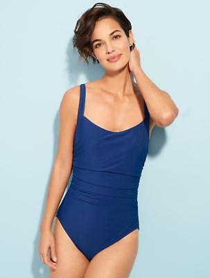 038b5a0f7ffbf $149.00 NWT - TALBOT Women's 'CABANA' India Ink 1-PC UNDERWIRE SWIMSUIT - 14