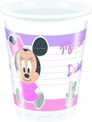 16 x Baby Minnie & Daisy Plastic Cups 200ml Birthday Party Tableware Supplies