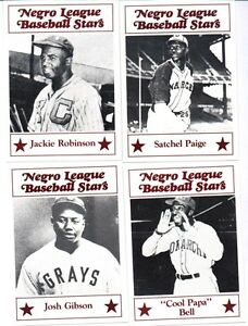 Negro League Baseball Stars Card Set Robinson Paige