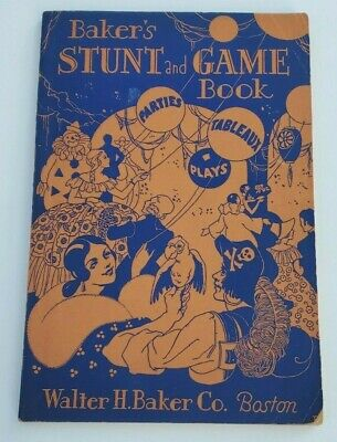 VTG 1928 HALLOWEEN Book Bakers STUNT and GAME Party Play Masquerade Costume OLD