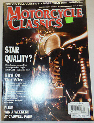 Motorcycle Classics Magazine Star Quality Bird On The Wire January 1997 012715R