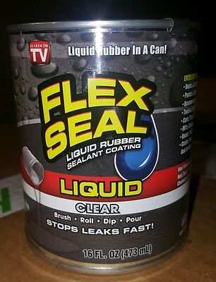 As Seen On Tv Flex Seal Liquid Rubber In A Can Clear 16 Fl Oz