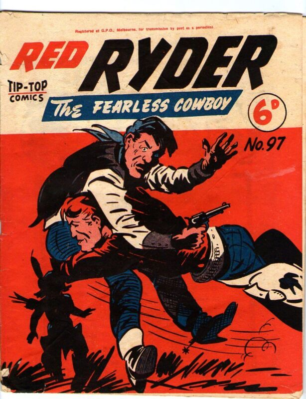 Red Ryder  97    Western Comic Theme Cover   AUSTRALIAN   COPY