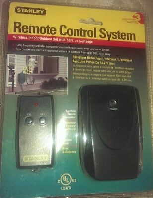Stanley Remote Control System Outdoor Receiver NEW 50ft Range Transmitter  (Stanley Remote)