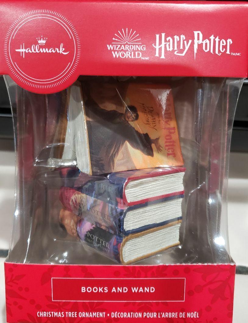 Hallmark 2020 Christmas Ornament Harry Potter Book Wand NEW - $20.95