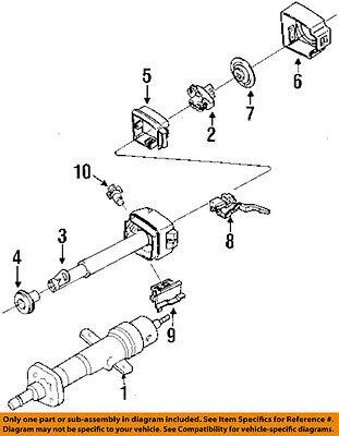 Chevrolet GM OEM Beretta Steering Column Ignition-Lock Cylinder & Keys 26014105