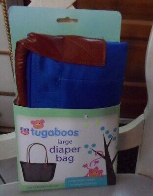 Rite Aid Tugaboos large Diaper Bag blue and brown