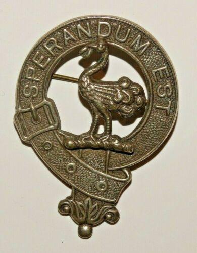 "Antique Clan Wallace, Scottish Clan Badge, ""Sperandum Est"""