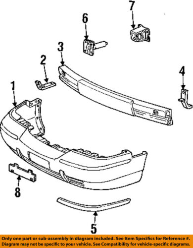 98 mercury grand marquis engine diagram mercury ford oem 98 02 grand marquis front bumper cover molding  mercury ford oem 98 02 grand marquis