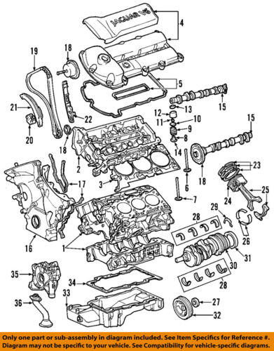 jaguar x type engine diagram jaguar oem 00 01 s type engine valve cover xr826735 ebay  jaguar oem 00 01 s type engine valve