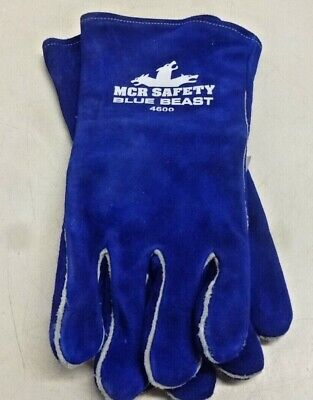 Mcr Safety 4600 Blue Beast Split Cow Leather Deluxe Welder Gloves