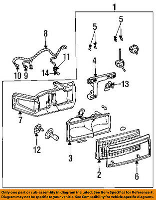 Cadillac GM OEM 94-96 DeVille-Headlight Assembly 16522822 Cadillac Deville Headlamp Assembly