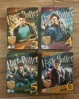 Harry Potter Ultimate Edition Blu-ray (DVD) Films 3-6 Collectors English
