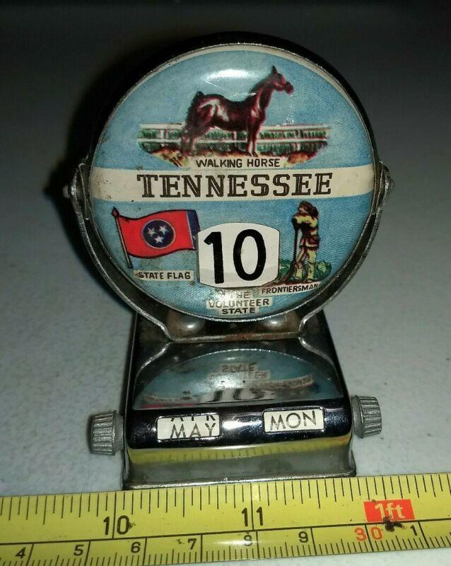 Vintage Tennessee Perpetual Metal Flip Desk Calendar