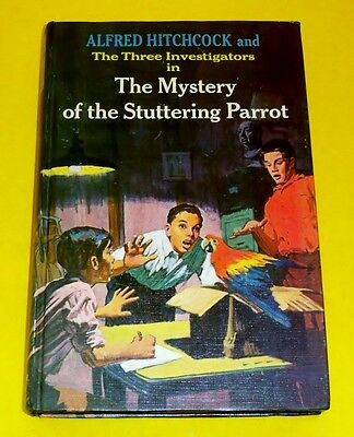 1st edition The Mystery of STUTTERING PARROT #2 Three Investigators Hitchcock 3