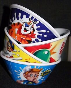4 X Kelloggs Brand New Cereal Bowls. Limited Edition from 2011 Assorted