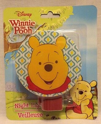 Disney Winnie the Pooh NightLight Kids'Room Decor Wall Plug NEW FREE SHIP