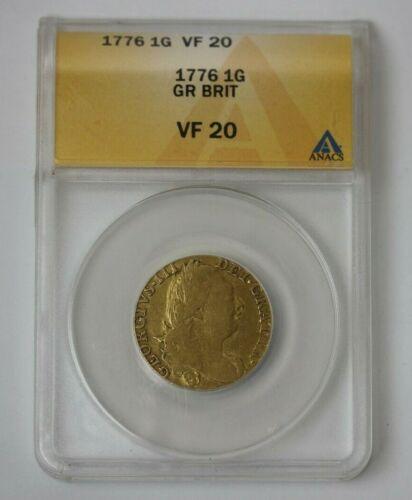 1776 Great Britain Gold Guinea ANACS VF 20 #116781JR