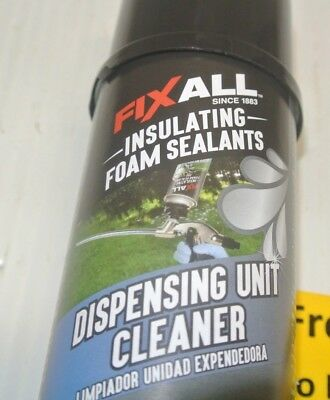 12 Cans Box Of Fixall Insulation Foam Sealant Dispensing Unit Cleaner 12oz Cans