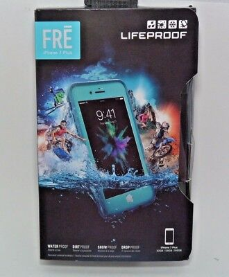 LifeProof FRE Waterproof If it should happen For iPhone 8 Plus 7 Plus - Sunset Bay Light Teal