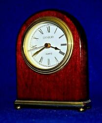 Danbury Rosewood Desk or Mantle Clock with Quartz Battery Movement - Take a L@@K