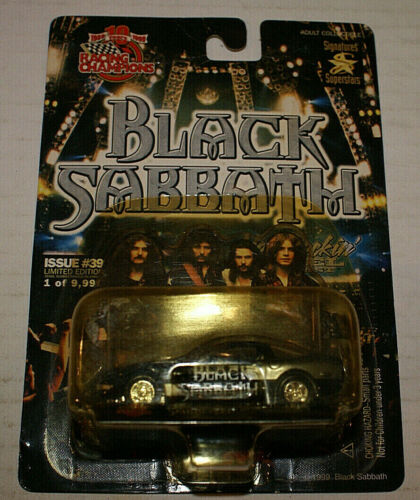 Black Sabbath Die-cast Car #39 Racing Champions Hot Rockin
