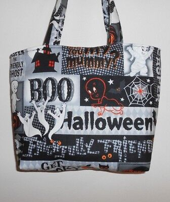 Handmade Halloween Purse Tote Bag Casper the Friendly Ghost - Halloween Tote