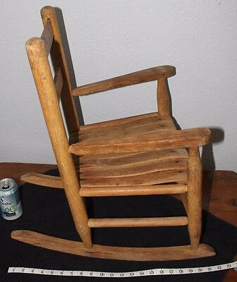 Vintage   Old  OAK    Child's  slat   Rocker Porch  rocker  Chair  Doll chair    for sale  Shipping to Ireland