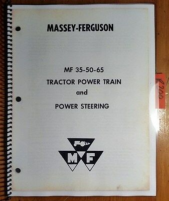 Massey Ferguson Mf 35 50 65 Tractor Power Train Power Steering Service Manual