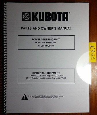 Kubota L9150 L9160 Power Steering Unit L235dt L275dt Tractor Op Parts Manual