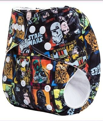 Star Wars Pocket Cloth Diaper Jedi Sith Solo Vader Yoda Skywalker Force Friday