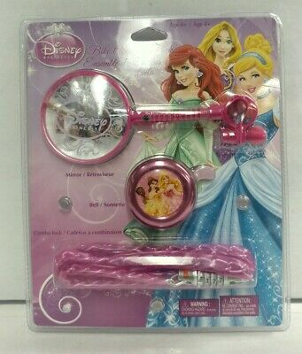 Disney Princesses Age (Disney Princess Bike Accessory Pack Age 4+ Mirror Bell and Combination)