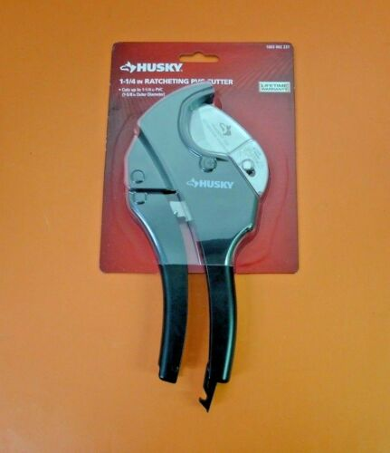 NEW Huskey 1 1/4 Inch Ratcheting PVC Cutter 1003002231