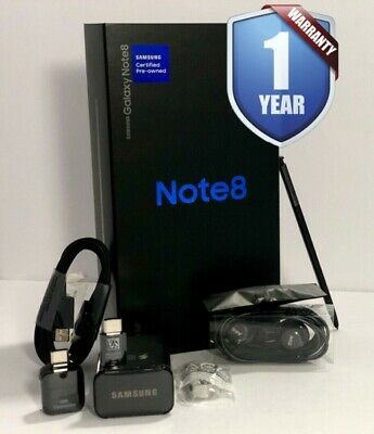 SAMSUNG GALAXY NOTE 8 64GB SM-N950U1 BLACK FACTORY UNLOCKED SELECT YOUR NETWORK
