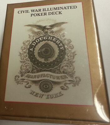 CIVIL WAR ILLUMINATED REPLICA PLAYING CARD DECK