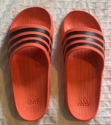 Orange Adidas Sliders