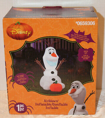 DISNEY Halloween Inflatable 3.5' Olaf from Disney Frozen Led Airblown NEW IN BOX - Olaf Inflatable Halloween