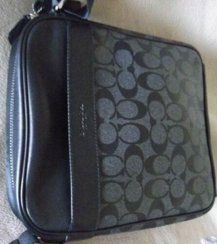Authentic Signature COACH Crossbody Shoulder Flight Bag For Men