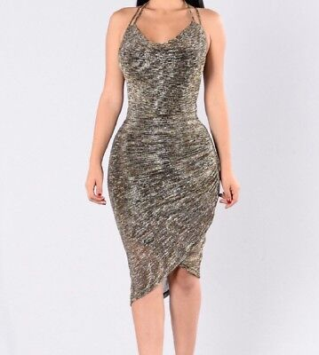 Fashion Nova • Shimmery stretch dress