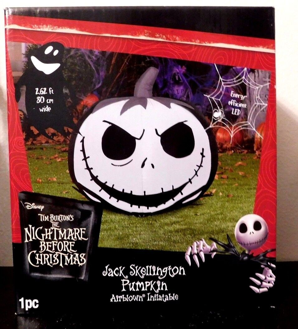 Disney Nightmare Before Christmas Jack Skellington Pumpkin Air Blown Inflatable