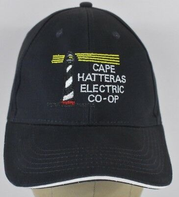 Navy Blue Cape Hatteras Electric Embroidered Baseball Hat Cap Adjustable Strap