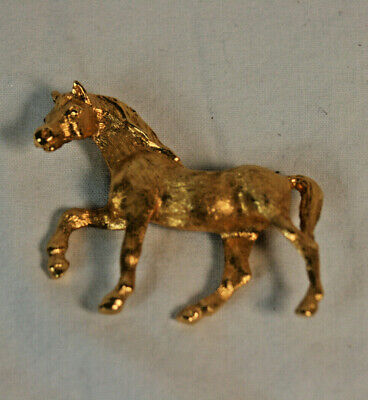 Vintage Signed Napier Gold Tone Horse Brooch Pin - EUC - FREE SHIPPING Napier Gold Tone Brooch