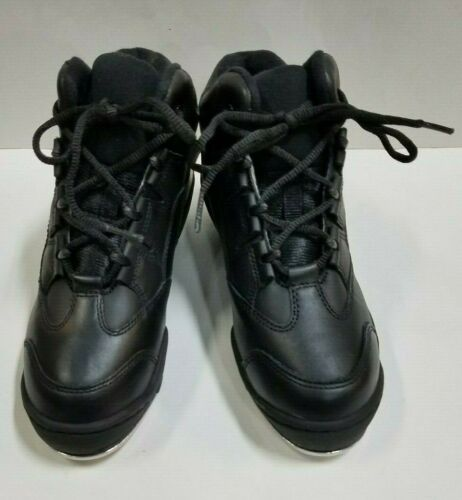 Capezio DS07 Adult Size 5.5M Black Leather High Top Tap Dance Sneakers Tap Shoes